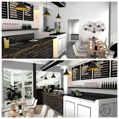 Desain Interior Mini Cafe Ruang Makan Modern Oleh A.D Studio Bandung Modern