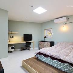 은퇴인생의 새로운 보금자리, 울산 미호리주택: 주택설계전문 디자인그룹 홈스타일토토의  전자 제품,모던 마분지