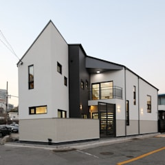 Wooden houses by 주택설계전문 디자인그룹 홈스타일토토, Modern Ceramic