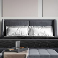 Sypialnia w apartamencie w Katowicach od Ale design Grzegorz Grzywacz Minimalistyczny