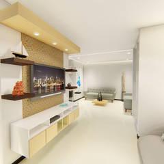 REMODELACION APTO : Salas de estilo  por SEQUOIA. Projects & Designs, Moderno