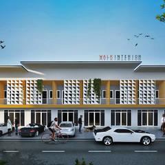อาคารพาณิชย์ 2 ชั้น:  บ้านสำหรับครอบครัว โดย walkinterior ,