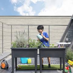 สวนหน้าบ้าน โดย 주택설계전문 디자인그룹 홈스타일토토, สแกนดิเนเวียน อิฐหรือดินเผา