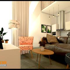 : Ruang Keluarga oleh CV Leilinor Architect,