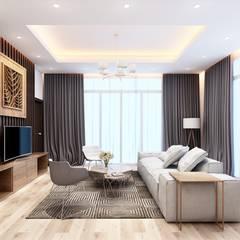 Nội thất nhà cấp 4:  Phòng khách by Nguyen Phong Thiết kế nội thất