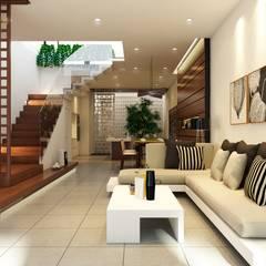 Nhà phố Trung sơn - tp HCM:  Phòng khách by Nguyen Phong Thiết kế nội thất
