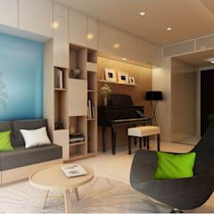 Căn hộ chung cư Galaxy 9 quân 4 TP HCM:  Phòng khách by Nguyen Phong Thiết kế nội thất
