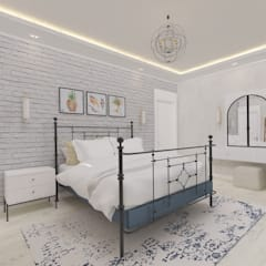 غرف نوم صغيرة تنفيذ ASN İç Mimarlık , بلدي فلز