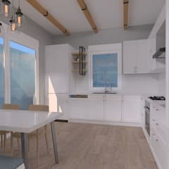 Kitchen units by ASN İç Mimarlık , Country Wood Wood effect