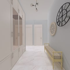 Corridor & hallway by ASN İç Mimarlık , Country Wood Wood effect
