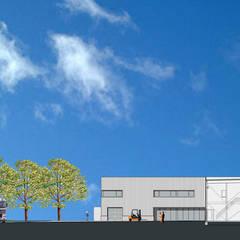Nieuwbouw Frissen Groen Techniek, Valkenburg a/d Geul:  Kantoor- & winkelruimten door Verheij Architecten BNA