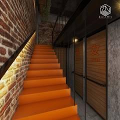 Restaurante Tokio 07: Escaleras de estilo  por Zcala Norte