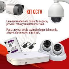 Sistemas de video vigilancia: Casas multifamiliares de estilo  por Ajym Security