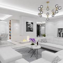 Belezza: styl , w kategorii Salon zaprojektowany przez MOONFIELD STUDIO,