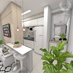 Kleine keuken door Alce Arquitetura e Interiores, Modern