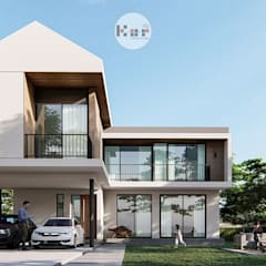 Casas unifamiliares de estilo  por Kor Design&Architecture,