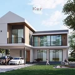 منزل عائلي صغير تنفيذ Kor Design&Architecture , إنتقائي أسمنت