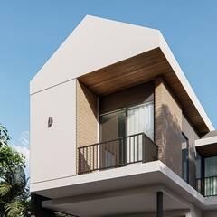 Project : modern minimalist house :  บ้านเดี่ยว โดย Kor Design&Architecture,