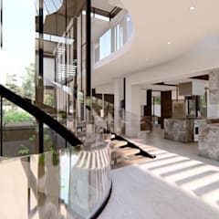 Hyde Park Luxury residence:  Stairs by FRANCOIS MARAIS ARCHITECTS, Modern