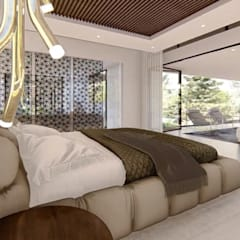 Hyde Park Luxury residence:  Bedroom by FRANCOIS MARAIS ARCHITECTS, Modern