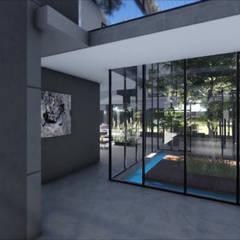 Zambian Luxury residence:  Corridor & hallway by FRANCOIS MARAIS ARCHITECTS, Minimalist