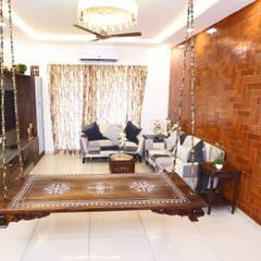 غرفة المعيشة تنفيذ HomeLane.com , حداثي