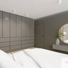 Elegancja w nowoczesnym wydaniu - sypialnia: styl , w kategorii Ściany zaprojektowany przez Machowska Studio Projektowe,