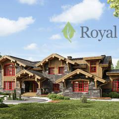 """""""Тембор"""", 600м2 - гибридный деревянный дом по канадской технологии: Деревянные дома в . Автор – Роял Вуд,"""