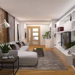 PROYECTO DECORACIÓN Salones de estilo moderno de PLAN B INTERIORISMO Moderno