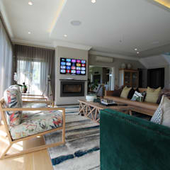 JPVO Project:  Living room by Audio Visual Projects (PTY) Ltd, Mediterranean