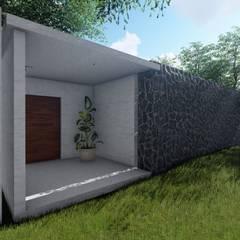 CASA HU.CU.: Casas de campo de estilo  por CAJA Arquitectos