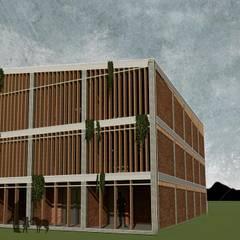 CENTRO DE DESARROLLO ESTUDIANTIL C-C: Casas de estilo  por CAJA Arquitectos
