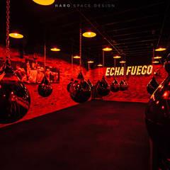 TRIIIBU Fitness Boutique: Gimnasios de estilo  por HARO SPACE DESIGN,
