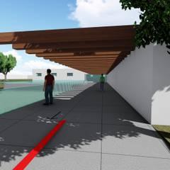 centro comunitario cactus: Escuelas de estilo  por Dueñas Arquitectos