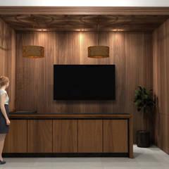 PROYECTO BAR DE MADERA : Muebles de cocinas de estilo  por MADISSON Carpintería, Moderno Madera Acabado en madera