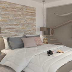 Small bedroom by URBAO Arquitectos, Modern Stone