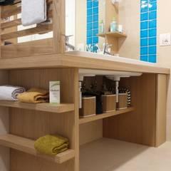 Bathroom by Daniele Arcomano, Modern Wood Wood effect
