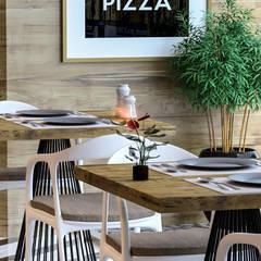 Beta İç Mimarlık – Pizza_Whiskey Bar:  tarz Yeme & İçme