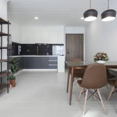 Thiết kế thi công nội thất chung cư 70m2 ấm cúng đáng mơ ước:  Phòng ăn by ICON INTERIOR