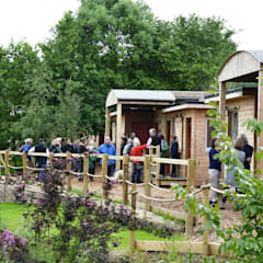Outposts Somerset - Open Launch Day:  Wooden houses by Building With Frames