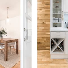 Small kitchens by Silvia R. Mallafré, Classic Wood Wood effect