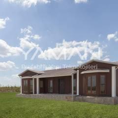 Prefabrik Ev (Yaman Prefabrik) – 106  m2 Prefabrik Ev:  tarz Müstakil ev,