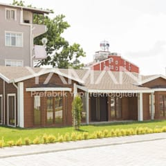 Prefabrik Ev (Yaman Prefabrik) – 106  m2 Prefabrik Ev:  tarz Ahşap ev,