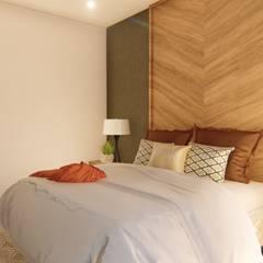 Arquitectura Azul:  tarz Küçük Yatak Odası, Kolonyal
