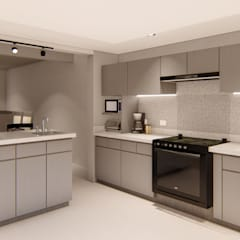 Proyecto Cocina: Cocinas equipadas de estilo  por Arquitectura Azul