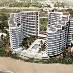 IROTAMA BAHIA: Casas multifamiliares de estilo  por CAMPUZANO ARQUITECTOS, Moderno