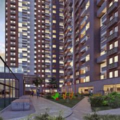 ACUARELA DEL PARQUE: Terrazas de estilo  por Mir Estudio - Arquitectura y Visualización 3D, Moderno