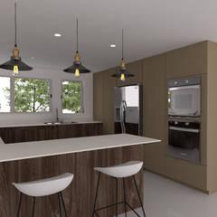 Cocinas: Cocinas pequeñas de estilo  por Naromi  Design , Moderno Madera Acabado en madera
