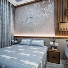 Dormitorios pequeños de estilo  por 悅築室內裝修設計工程有限公司 , Asiático