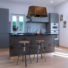 آشپزخانه توسطSantoro Design Render, مدرن